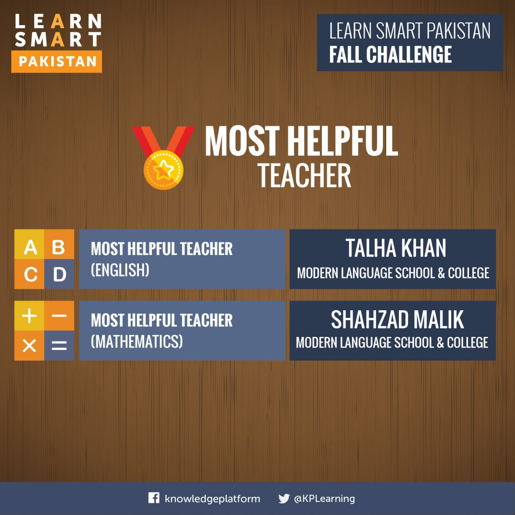 Most Helpful Teachers